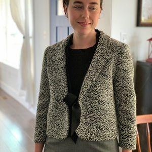 Ann Taylor Black & White Tweed Blazer, Size 4
